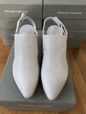 Officine Creative Women Severine Soft White Heel Mule Size 37 38 Leather $530