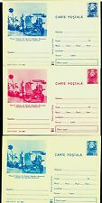 1973 Telephone,Phones collection,Telefono,Telefon,Romania,3 cards colour variety