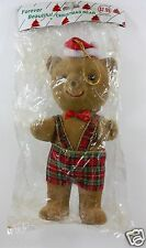 "CHRISTMAS BEAR ORNAMENT DECORATION 9"" TALL CUTE HOLIDAY GIFT HOME DECOR"