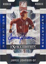 2009 Elite Extra Edition Jamie Johnson Aspirations Autograph 028/100 Tigers