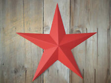 "Metal Star 24"" Painted Solid Radiant Red"