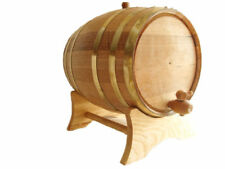 20L Brass Hoop Wine Whisky Beer Oak Wood BARREL - oak barrels free engraving