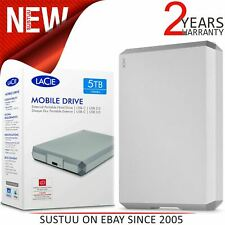 Lacie 5TB Mobile Drive│USB 3.0 Type-C Portable External Hard Drive│For PC & Mac