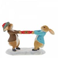 Beatrix Potter Peter Rabbit And Benjamin Pulling A Cracker A30180 Figurine New