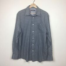 Ben Sherman Heritage Button Down Shirt Size XL Gray Plaid Union Fit Cotton Blend