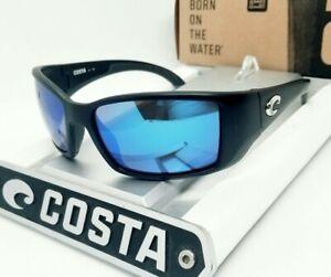 400G - COSTA DEL MAR black/blue mirror BLACKFIN POLARIZED sunglasses NEW IN BOX!