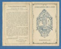IMAGE PIEUSE HOLY CARD PRIERE  MARSEILLE N DAME GARDE PROTECTRICE MARINS