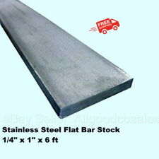 Stainless Steel Flat Bar Stock 14 X 1 X 6 Ft Rectangular 304 Mill Finish