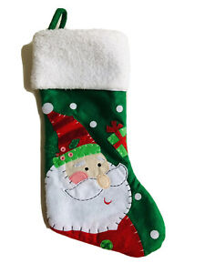 19 In Santa Red White Christmas Stocking