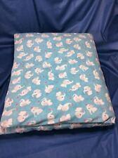 Handmade Designer Fabric Elephants Unisex Cot Quilt And Cover. VGConditon