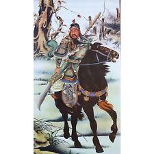 Chinesisches Rollbild Die Drei Waffenbrüder - General Guan Yu Bildrolle China