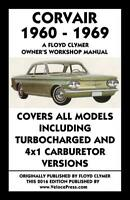 Corvair 1960-1969 Owner's Workshop Manual by Floyd Clymer~All Models~NEW!