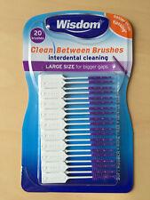 Wisdom Clean Between Interdental Purple Large Size 20 Brushes per pack