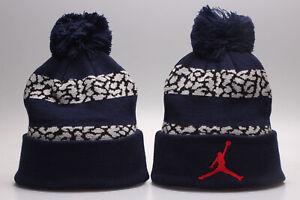 Michael Jordan Jumpman Winter Warm Knit Beanie Cuffed POM Adult Unisex - Navy