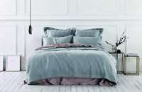 Sheridan Abbotson Belgian Linen Tailored Quilt Cover Pewter