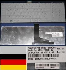 Clavier Qwertz Allemand TOSHIBA Satellite L850 C850 NSK-TT1SU 0KN0-ZW4GE03 Blanc