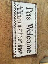 Tin Welcome Decorative Plaques & Signs