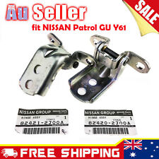 For Nissan Patrol GU Y61 Front Right RHF Left LHF Door Hinges Set AU