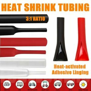 Marine Heat Shrink Tube Assortment 3:1 Glue Lined Wire Wrap Insulation Sleeving