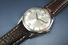 Vintage Longines Wittnauer Stainless Steel Mens Date Watch 17J C11WS2 1960 NICE