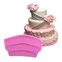 Ribbon Lace Cake Mold Chocolate Fondant Mould DIY Cake Decor Silicone Tools_BB