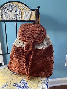 %100 Cotton Hand Knitted Handmade Bag Crossbody Bag