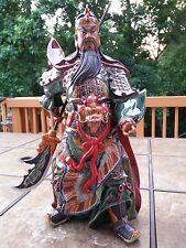 """16""""H China dragon guangong guanyu General warrior Hero god statue"""