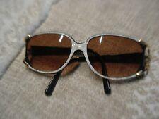 NINA RICCI DAMEN Sonnenbrille Brille SNR060 Rund Weinrot