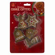 5 Noël Cookie Cutter Noël Angel Tree Star formes cuire biscuit métal