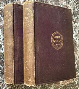 Little Women, 1871 TRUE First Edition Set, Parts 1st & 2nd, Louisa May Alcott