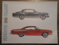 PLYMOUTH original 1961 USA Mkt Sales Brochure - Fury Valiant Belvedere Savoy etc
