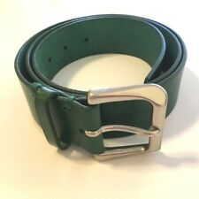 Y'S YOHJI YAMAMOTO Green Leather Men's Belt YV-F05-771-2.2