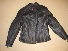 FIRSTGEAR BLACK LEATHER MOTORCYCLE JACKET WITH THERMO LINER SIZE XL W
