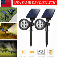 USA Solar Powered Spotlight Outdoor Garden Lawn Landscape Waterproof LED Lamp