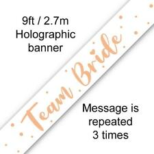 Team Bride Rose Gold Hen Party Banner 270 Cm Long Repeats 3 Times