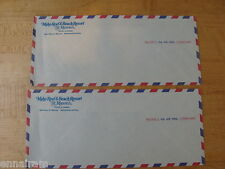 Maho Reef & Beach Resort St Maarten Netherlands Antilles 2 Air Mail envelopes
