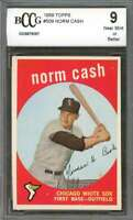 Norm Cash Chicago Whi 1959 Topps #509 Te Sox Rookie Card BGS BCCG 9