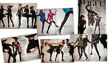 Vtg clippings Naomi Campbell Christy Turlington French Vogue Paris elle 1987