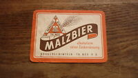 OLD 1950s GERMAN BEER LABEL, BRAUEREI RINTELN NEU SAXONY, MALZBIER