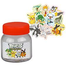 Pokemon Stationery BW2 - STICKERS BOTTLE Pikachu Oshawott Nintendo Tomy