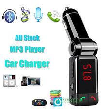 Wireless Bluetooth Car Kit Dual USB Charger Handsfree FM Transmitter SD Card AU