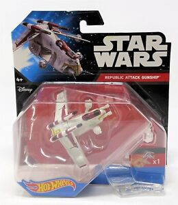 Hot Wheels Star Wars Republic Attack Gunship Starship Vehicle Toy CGW58