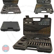 109pc HSS Masonry Screwdriver Socket Hex Phillips Torx Drill Bit Holder Set DCUK