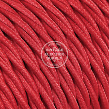 Red Twisted Cloth Covered Electrical Wire - Braided Rayon Fabric Wire