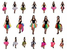 Neon 8 Layer Tutu Skirt Bustle Hen Party Fancy Dress 1980s Costume