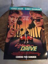 MOVIE POSTER: LICENSE TO DRIVE Original American  Corey Haim   Corey Feldman