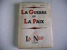 revue littéraire LA NEF n° 4 - 1953