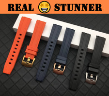 AXIAL 20mm Natural Rubber Watch Band Strap for Omega Seamaster 300 w/Logo (New)