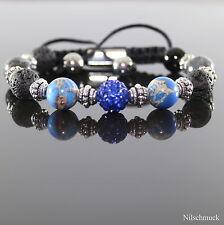 Damen Lava Rock Royal Impression Edelstein Perlen Shamballa Armband für Frauen