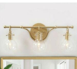 LNC 3-Light Modern Vanity Light A03631 Gold Wall Mount